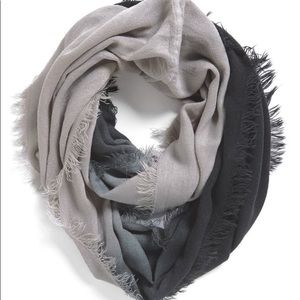 Michael Stars~ gray ombré infinity scarf one size